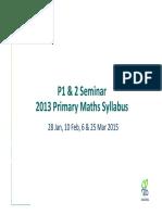 P1&2 Seminar Part 1 Overview