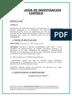 Metodologia Comteco Trabajo Realizado