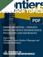 ErrorAwareness-InsightsFromCognitiveNeurosciencePsychiatryAndNeurology