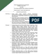 PMDN No. 4 Th. 2010 Ttg Pedoman Pelayanan Administrasi Terpadu Kecamatan