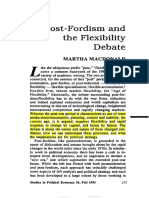 Post-Fordism and the Flexibility Debate