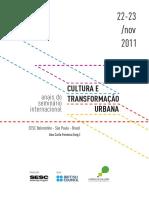 Anais Do Seminario Internacional Cultura e Transformacao Urbana