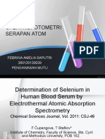 JURNAL SSA-Determination of Selenium  by Electrothermal Atomic Absorption Spectrometry.ppt