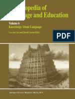 (Encyclopedia of Language and Education 6) Arthur Van Essen (Auth.), Leo Van Lier, David Corson (Eds.)-Encyclopedia of Language and Education_ Knowledge About Language-Springer Netherlands (1997)