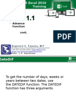 Module 1.1 - Ms Excel 2010 Training