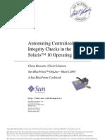 Automatic Centerlize File Integrity Check FSCKinSol10