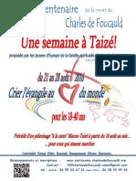 Affiche Taizé 2016 (Français)