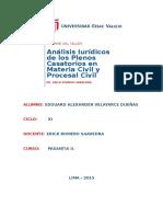 Los Plenos Casatorios en Materia Civil y Procesal Civil