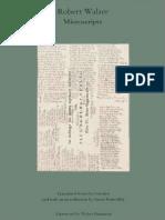 Essays on Robert Walser