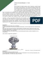 Avaliação de Aprendizagem 9 Ano portugues