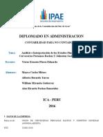 Trabajo Grupal - IPAE-Contabilidad- Análisis e Interpretación de Los Estados Financieros de Una Empresa