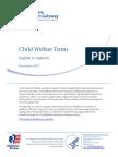 Child Welfare Terms English Spanish