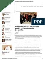19 - 03 -16 Rinde Protesta Nueva Presidente de Consejo Directivo Estatal de Economistas