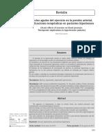 Efectos Agudos Del Ejercicio en La Presion Arterial.