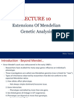Lecture 10 - Extension Mendelian Genetics 2013