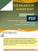 Electrolyte Balance and SIADH