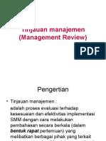 Tinjauan manajemen