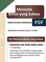 06. Tips Memulai Usaha