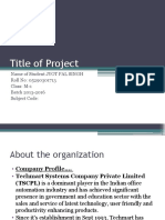 Project Presentation mall
