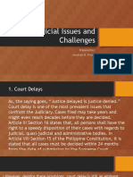 Judicial Issues and Challenges