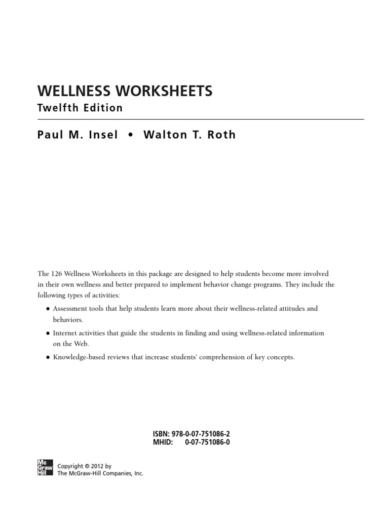Uncategorized Wellness Worksheets wellness worksheets preventive healthcare infection