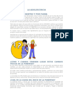 Cambios Físicos y Psicológicos en La Adolescencia
