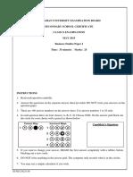 Business Studies II Paper I