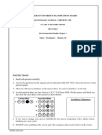 Environmental Studies SSC II Paper I