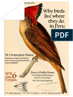 Why Birds Live Where They Do... in Peru - ValleyCafeSci Apr2016 Poster