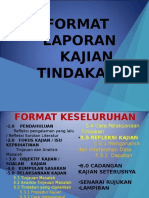 Format Laporan Kajian Tindakan