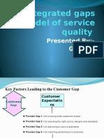 consumer gap model