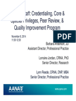 FLA 2014 4 Core Privileges, Peer Review, Quality Final 1130-1230 11.8