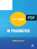 Key Terms in Pragmatics