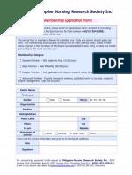 Pnr s Membership Form