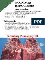 Secondary Tuberculosis
