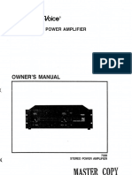 EV Electro-Voice 7300 Amplifier Manual