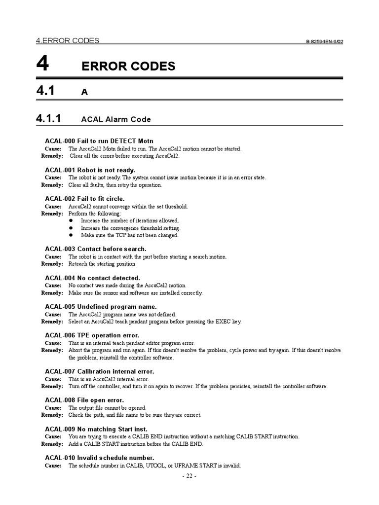 Error_code_Fanuc   Input/Output   Shell (Computing)