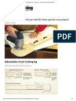 Adjustable Circle-Cutting Jig - Canadian Woodworking Magazine