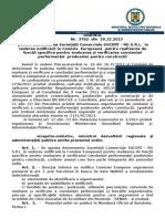 112.Ordin Nr.3762-20.12.2013 Pentru Desemnarea Societatii Comerciale SUCERT-Ro S.R.L. in Vederea Notificarii La Comisia Europeana