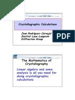 Mathematics for Crystallography 2