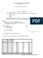 Inference in Regression Coefficients