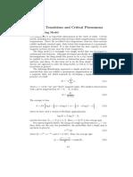 Phase Transition and Critical Phenomena