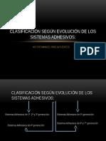 Clasificacion de Los Sistemas Adhesivos