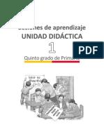 EDUCAION Primaria Sesiones Comunicacion Quintogrado Orientaciones Para La Planificacion Unidad01 5grado