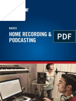 En Basics Home Recording Podcasting Shure