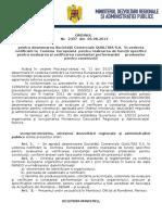 127. Ordin Nr.2437-06.08.2013 Pentru Desemnarea Societatii Comerciale QUALITAS S.a. in Vederea Notificarii La Comisia Europeana