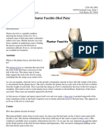 A Patients Guide to Plantar Fasciitis Heel Pain