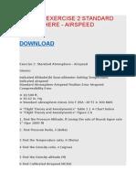 Asci 309 Exercise 2 Standard Atmosphere - Airspeed