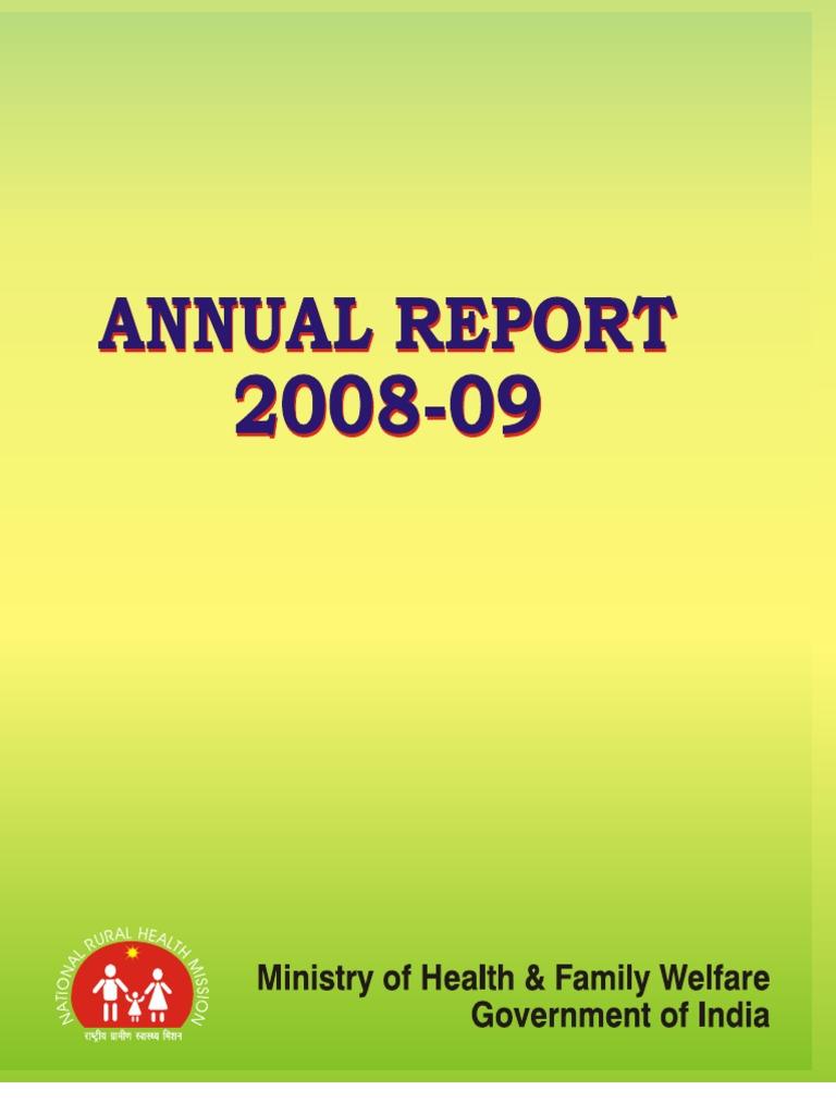 final health ministry annual report 2008 09 preventive healthcare
