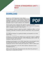 BOS 4025 OSHA STANDARDS UNIT I ASSESSMENT.docx